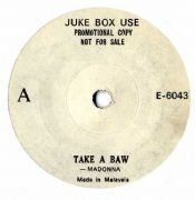 "TAKE A BOW (MISSPELLED)- MALAYSIA JUKEBOX PROMO 7"" VINYL"